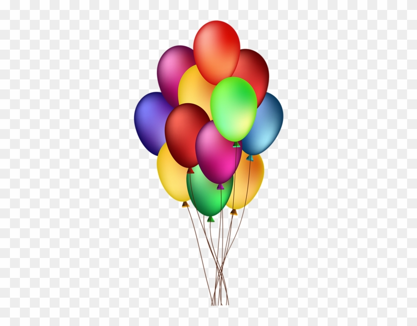 Bunch Of Colorful Balloons Png Clip Art Image Wishing - Floating Balloons Png Gif #6413