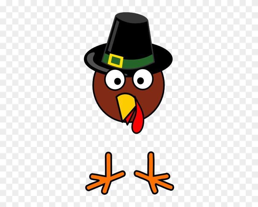 Totetude Turkey Head Feet Thanksgiving Clip Art At - Thanksgiving Turkey Head Clip Art #6419