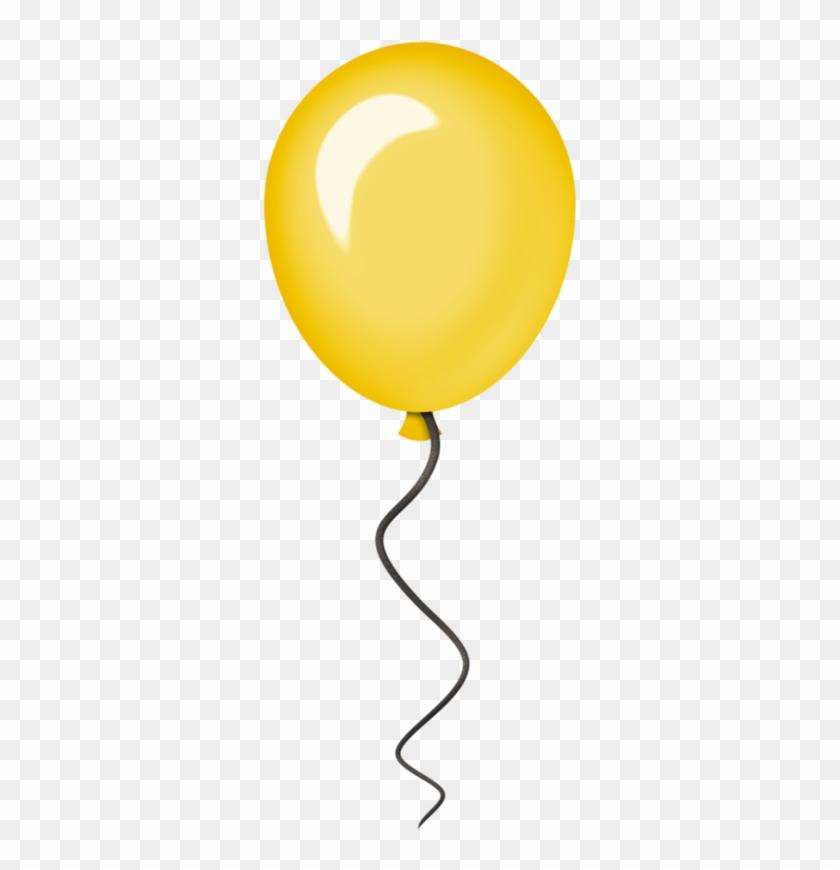 Clip Art - Yellow Balloons Clip Art #6436