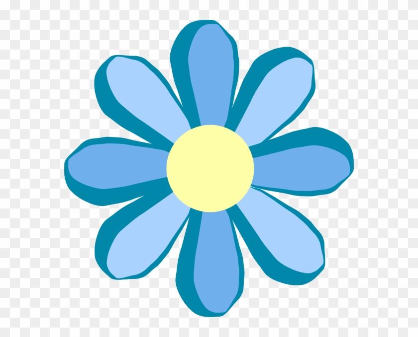 Blue Flower Clipart - Flower Clipart #6448