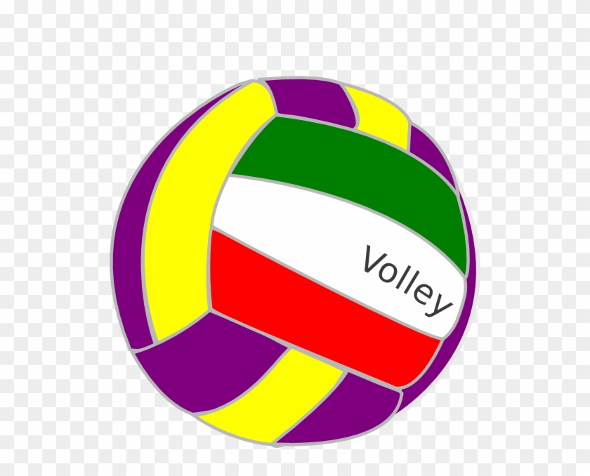Colorful - Volleyball - Clipart - Colorful Volleyball Clipart #6452