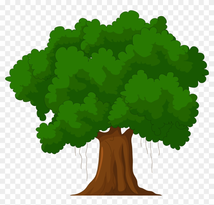 Cartoon Green Tree Png Clipart - Green Tree Cartoon #709