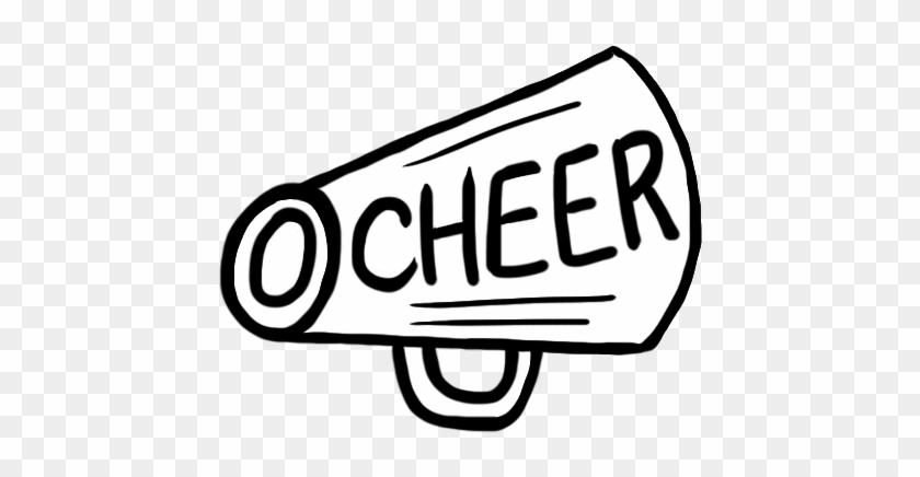 Cheer Megaphone Cheerleader Megaphone Clipart - Megaphone Cheer Clipart Transparent Background #6461