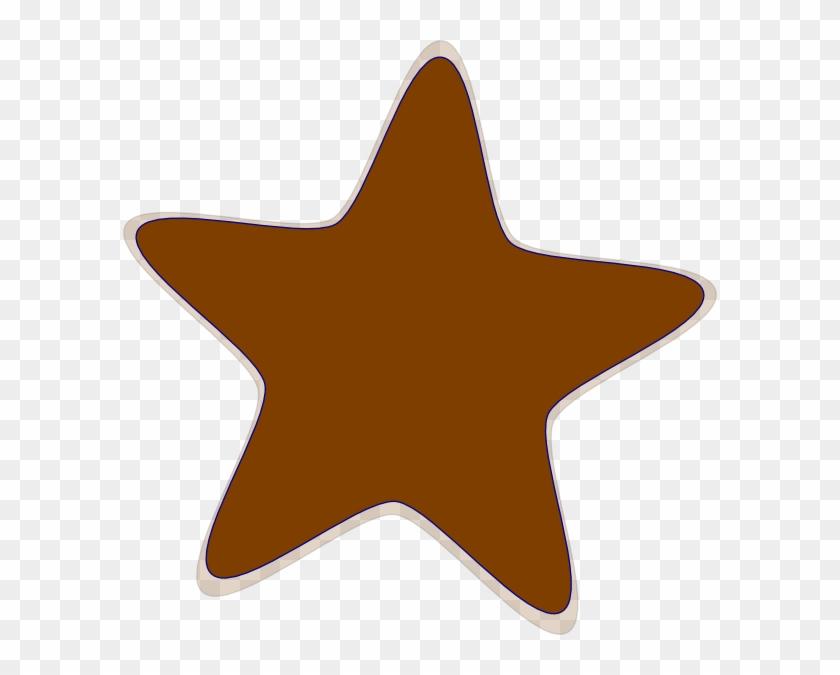 Rown Clip Art Star Hi Clip Art - Star Clip Art Brown #6475