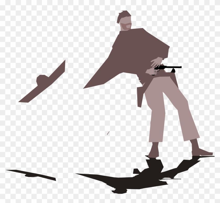 Gunslinger Western Clipart - Illustration #6487