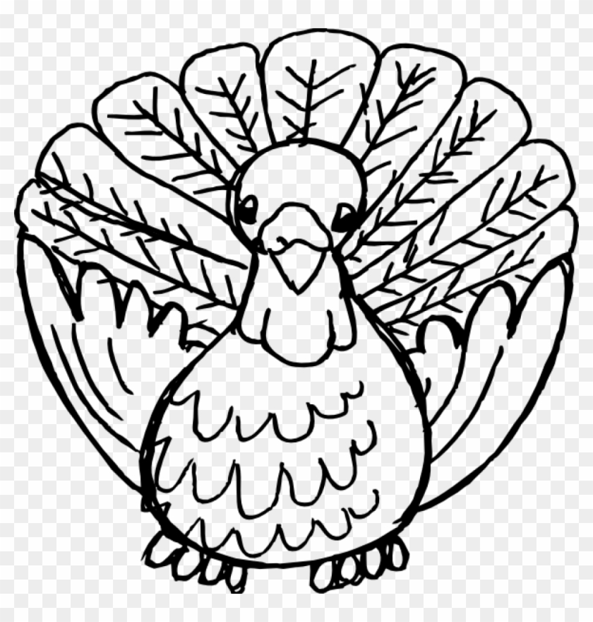 Thanksgiving Clipart Black And White Black And White - Thanksgiving Black And White #6495