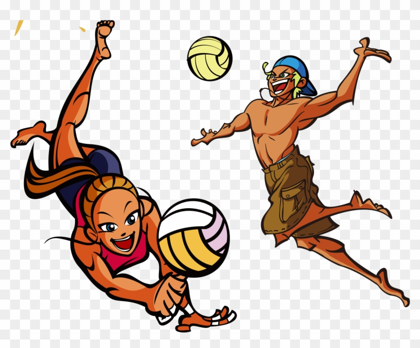 Cartoon Volleyball Pictures - Volleyball Drawing #6521