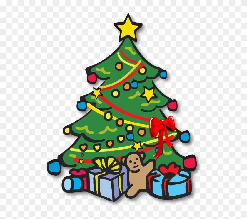 Christmas Tree Black And White Xmas Tree Clip Art Christmas - Christmas Tree Clipart Hd #691