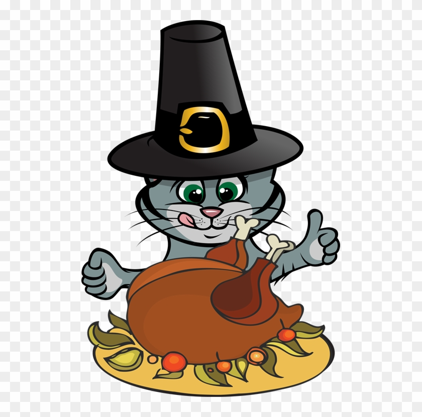Thanksgiving Clipart To Download - Cat Thanksgiving Clip Art #6566
