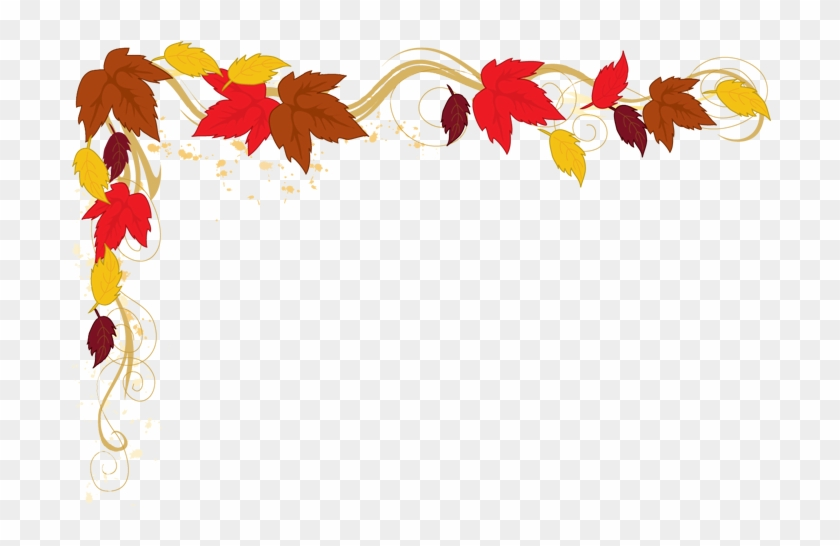 Falling Clipart Corner Border Pencil And In Color Falling - Fall Leaves Border Png #6569