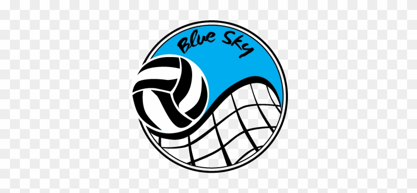 Volleyball Logos - Blue Sky Volleyball #6574