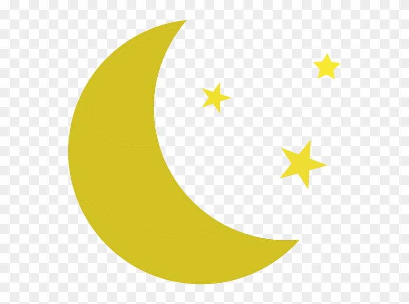 Clip Arts Related To - Moon And Stars Vector #6576