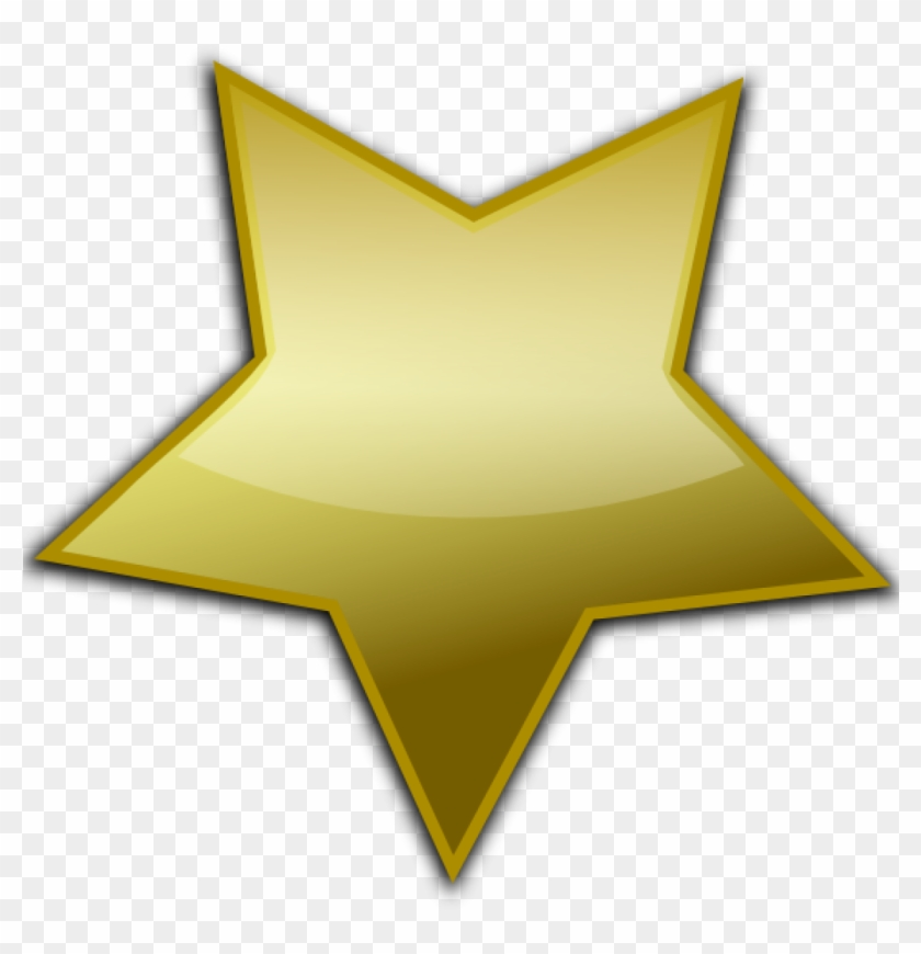 Gold Star Clipart Gold Star Clip Art At Clker Vector - Gold Star Vector Png #6580