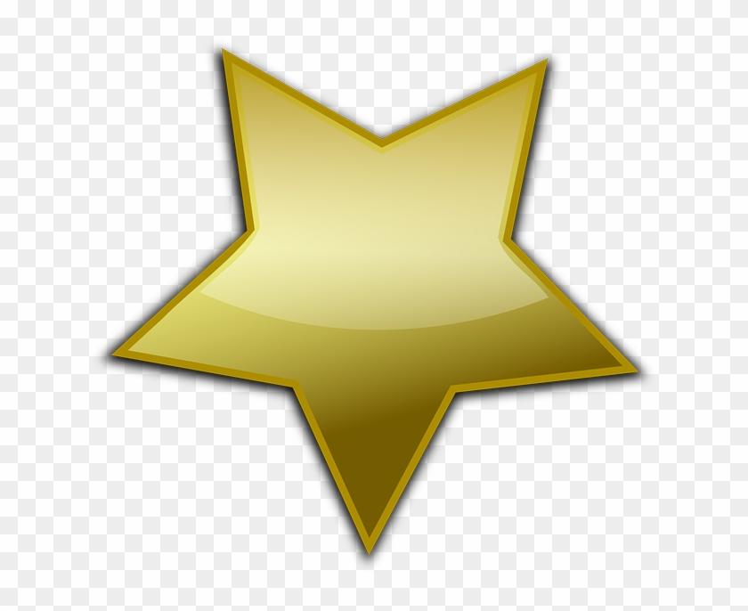 Gold Star Clipart Gold Star Clip Art At Clker Vector - Gold Star Vector Png #6583