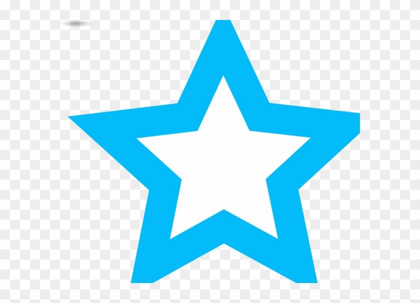 Blue Star Outline Clip Art At Vector Clip Art - Blue Star Outline Png #6585