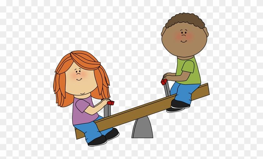 Kids On A Teeter Totter - Kids On A Teeter Totter #6619