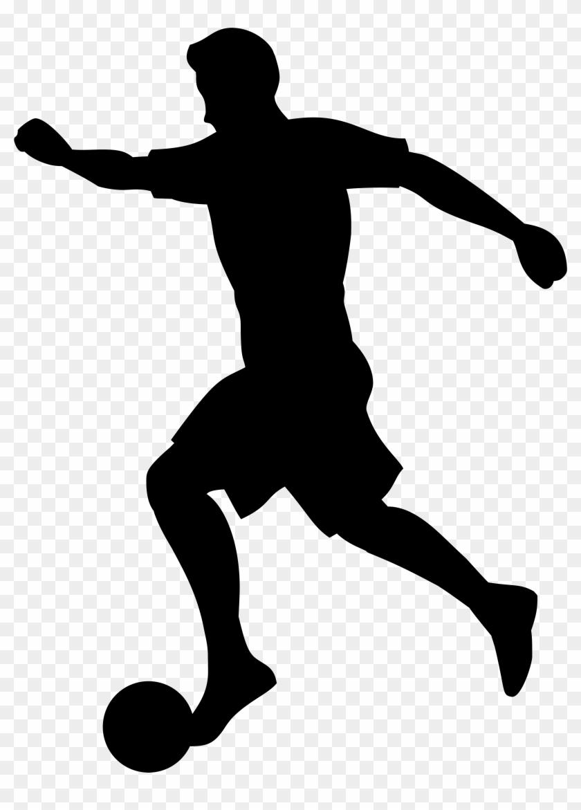 Footballer Silhouette Png Transparent Clip Art Imageu200b - Soccer Player Silhouette Png #6696