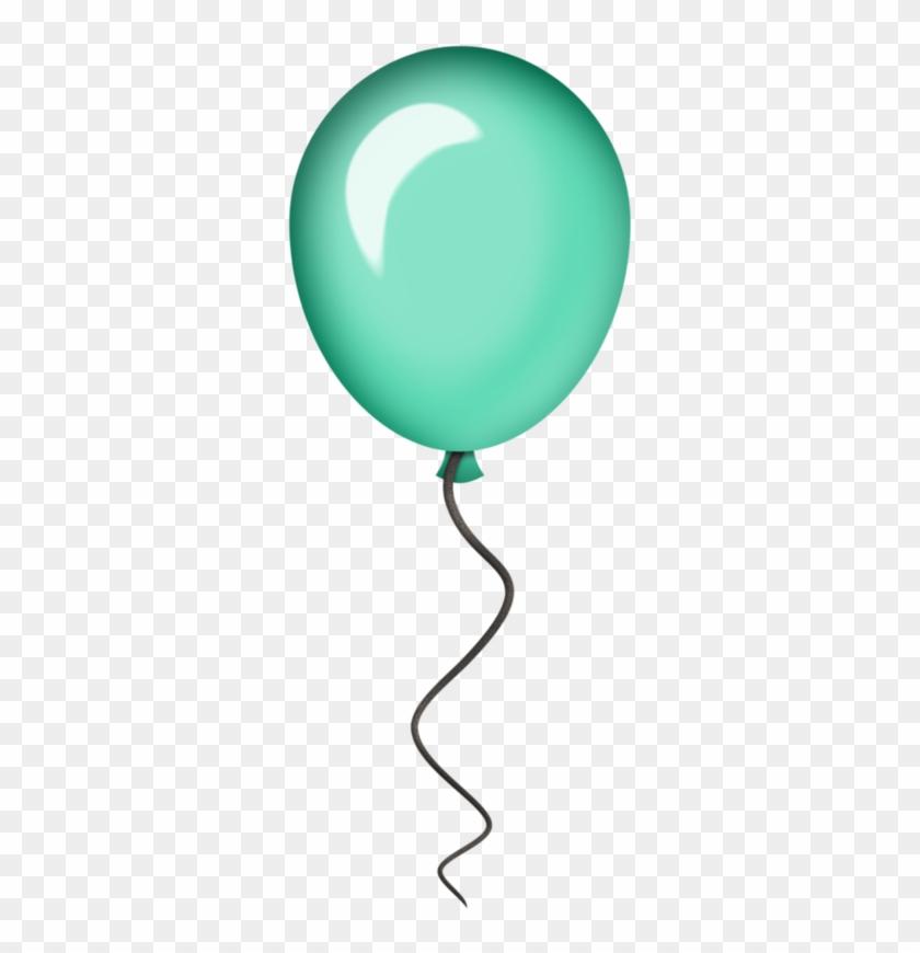 Flergs Circusmagic Freeballoon2 - Teal Balloons Clipart #6671