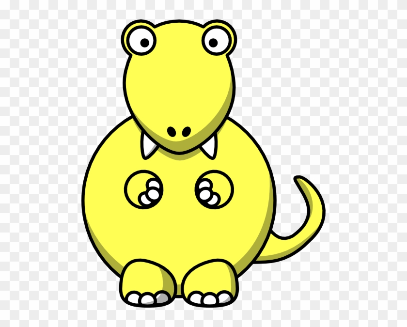 Yellow Dinosaur Clip Art At Clker - Yellow Dinosaur Clipart #6678