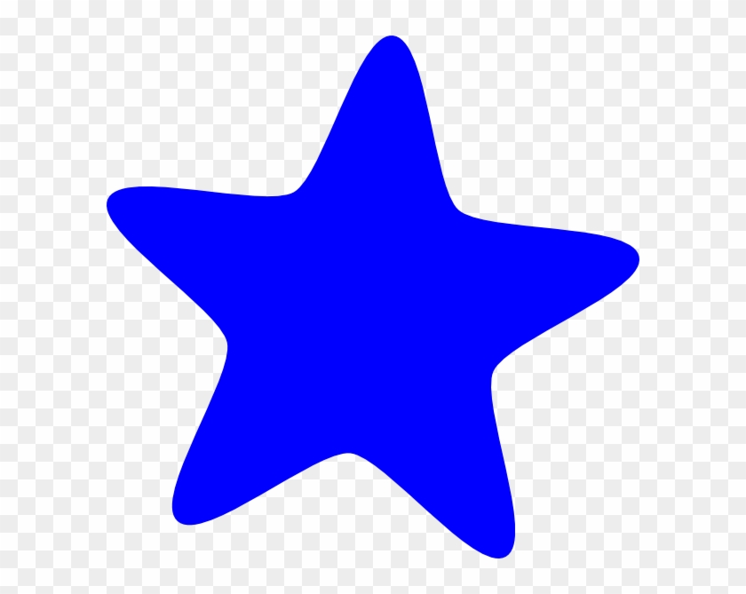 Blue Star Clipart Blue Star Clip Art At Clker Vector - Purple Star Clip Art #6690