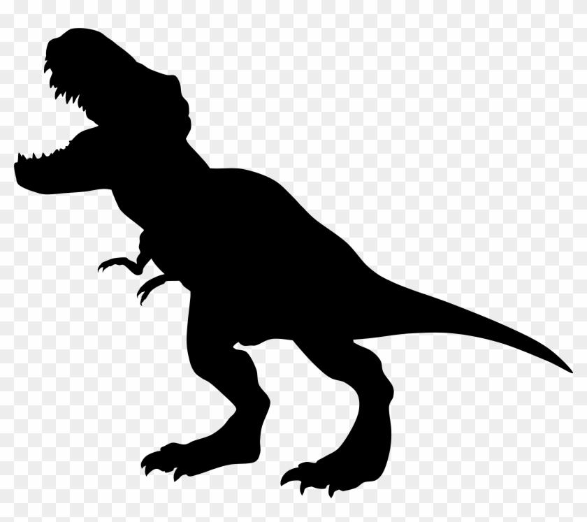 Dinosaur Rex Silhouette Png Transparent Clip Art Image - Dinosaur Rex Silhouette Png Transparent Clip Art Image #665