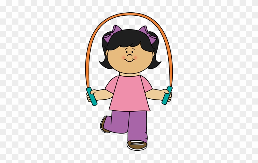 Girl Playing Jump Rope Clip Art - Girl Jumping Rope Clipart #6738