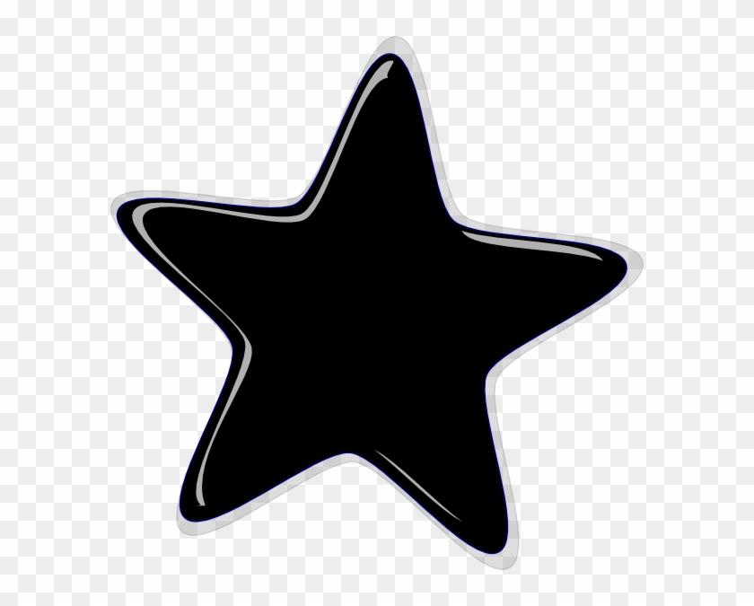 Staggering Black Star Clipart Clip Art At Clker Com - Black Cliparts #6747