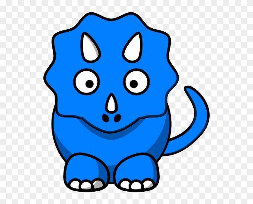 Baby Blue Dinosaur Clip Art At Clker - Dinosaur Clipart #6760