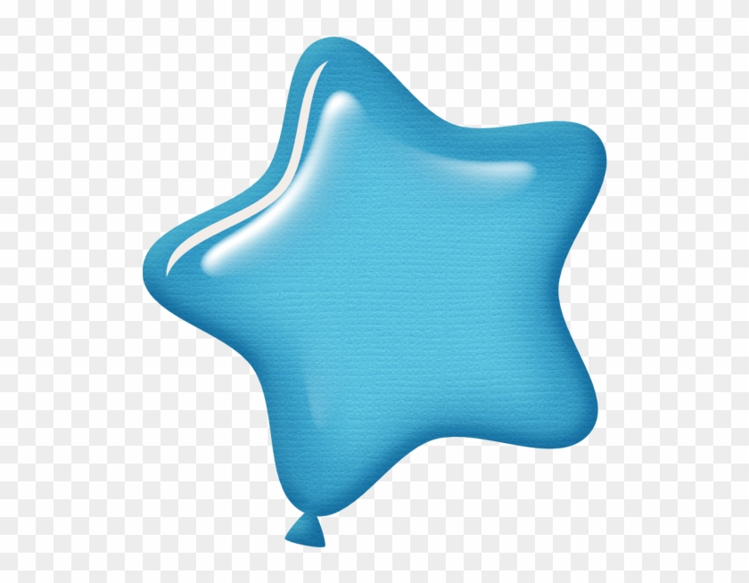 Aw Circus Balloon Star Lt Blue - Cute Blue Star Png #6762