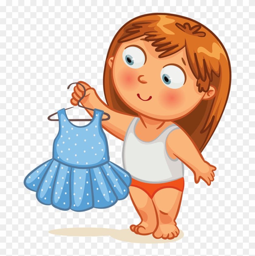 Get Dressed Clipart Clip Art Kid Getting Dressed Clock - Get Dressed Clipart #6764