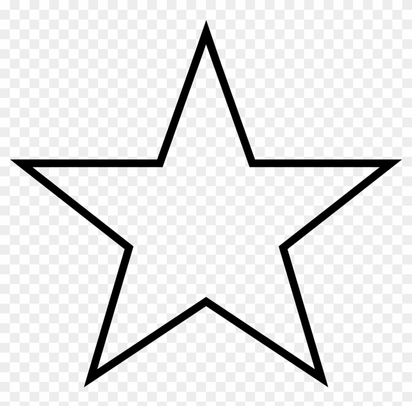 Star Shape Cliparts - 5 Point Star Outline #6769