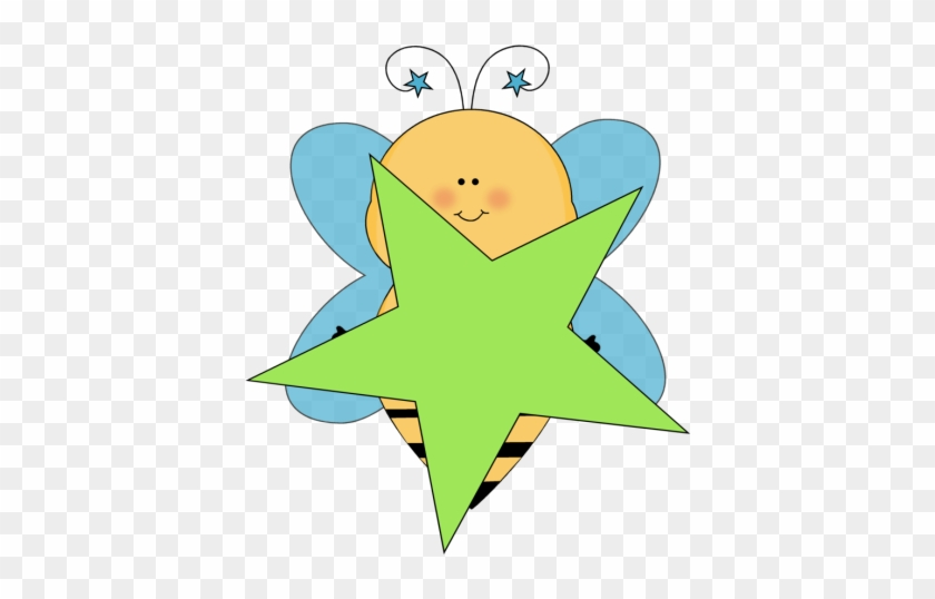 Blue Star Bee With A Green Star - Example Of Visual Discrimination In Objects #6776
