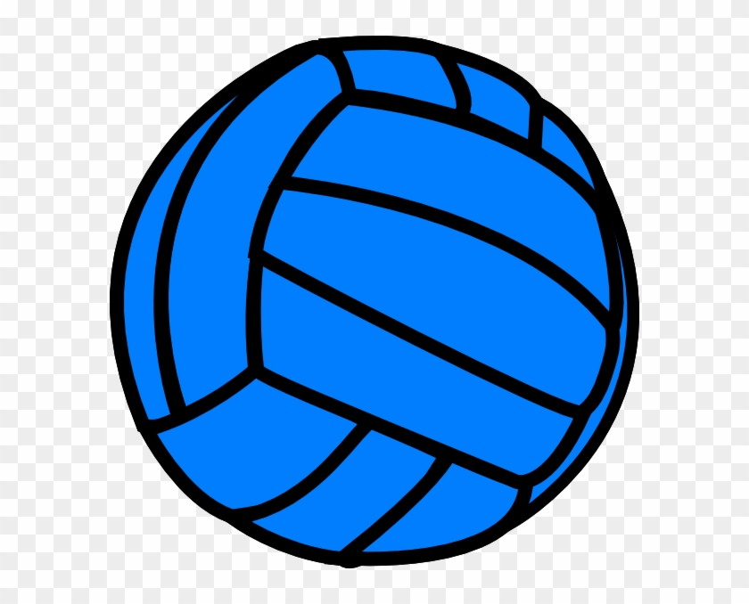 Blue Volleyball Svg Clip Arts 594 X 598 Px - Blue Volleyball Clipart #6812