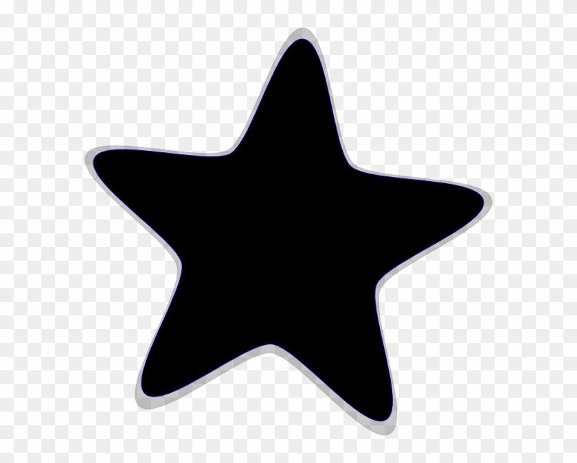 Star Black And White Large Star Clip Art Black And - Star Cliparts Black And White #6821