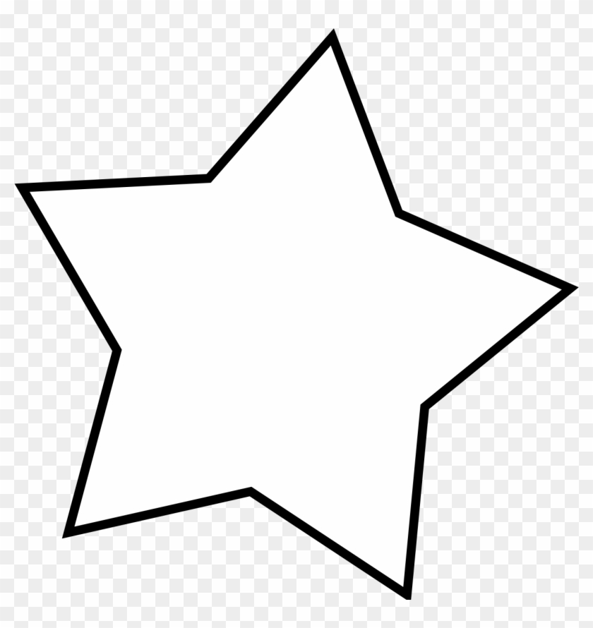 Free White Star Png - Clip Art #6825
