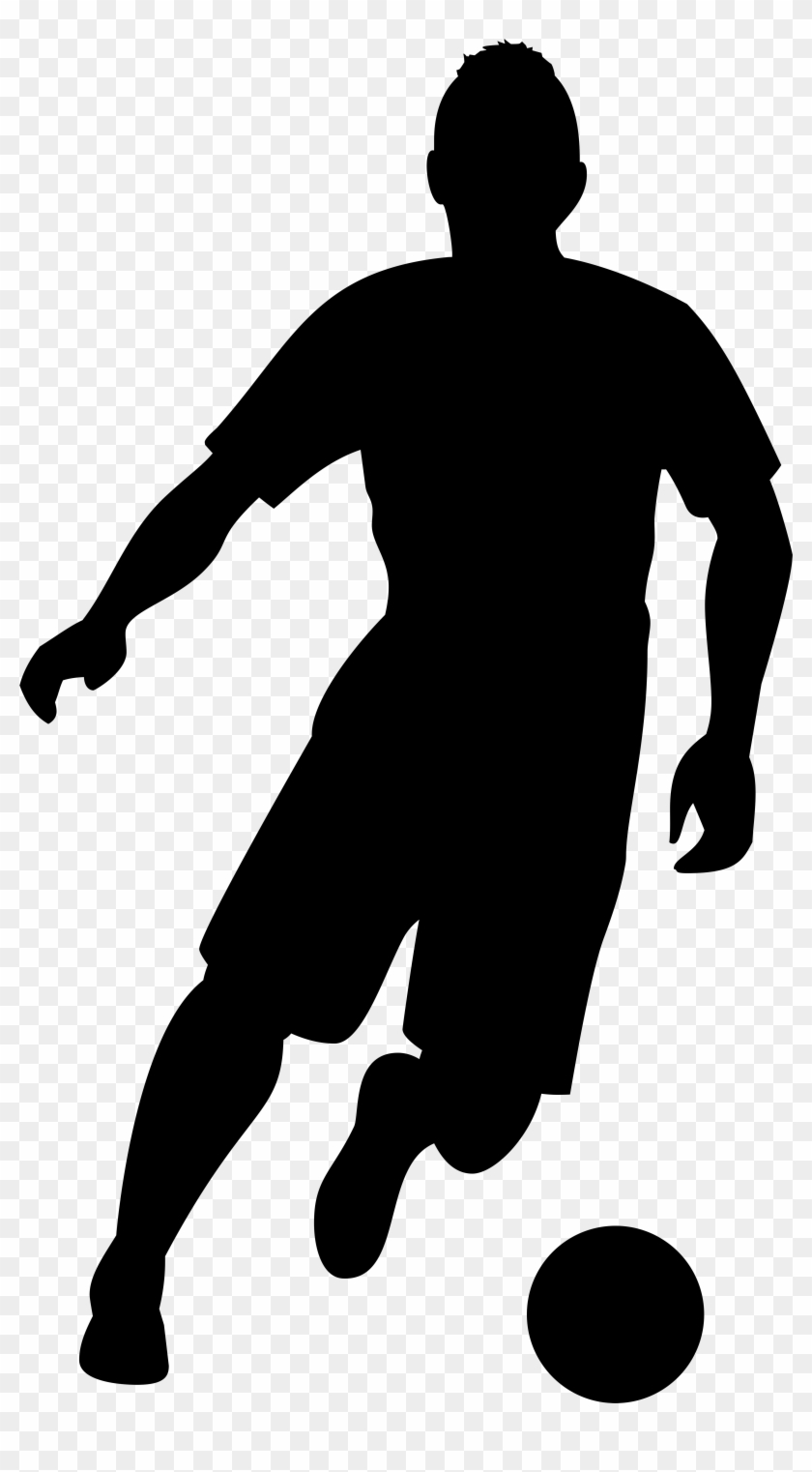 Football Player Silhouette Png Transparent Clip Art - Football Player Silhouette Png #6856