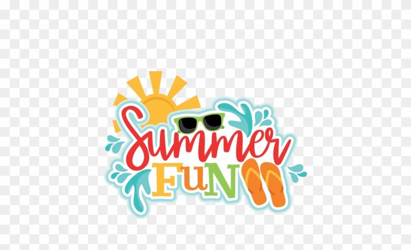 Summer Fun Clip Art Summer Fun Title Svg Scrapbook - Free Summer Fun Clip Art #6835