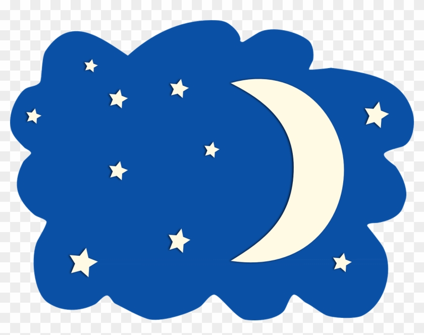 Night Star Clipart Clip Art Library Png - Moon And Stars Clipart #6842