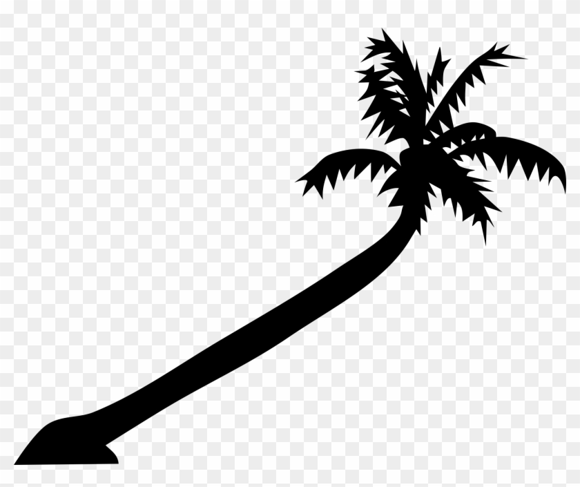 "Free Bent Palm Tree Clipart Clipart And Vector Image - Custom License Plate 7 X 4"" #667"