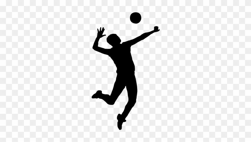 Volleyball Clip Art - Silhouette Volleyball #6857