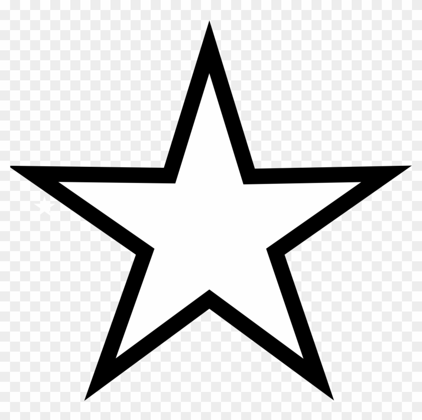 Star Black And White Shooting Star Clip Art Black And - Star Vector #6873