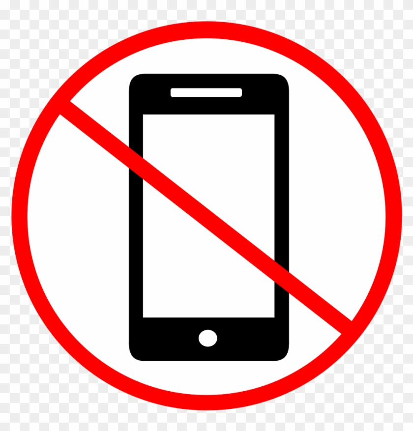 No Cell Phone Clip Art No Phone Cell Free Image On - Phone With Line Through #6902