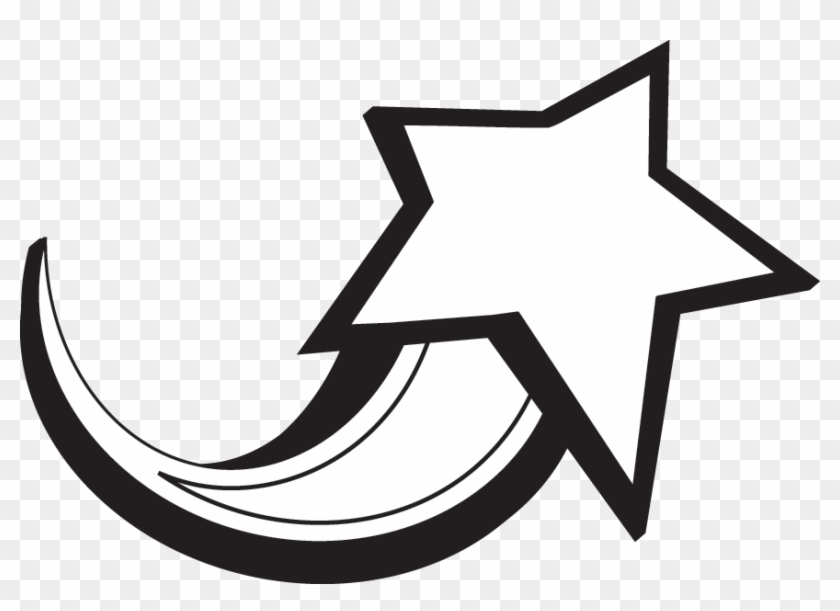 Star Black And White Black And White Star Clipart - Shooting Star Clipart Free #6904