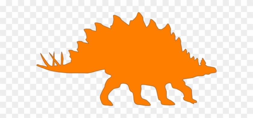 Orange Stegosaurus Clip Art At Clker - Custom Stegosaurus Silhouette Shower Curtain #6905