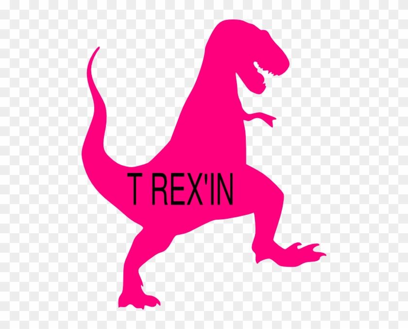 Pink T Rex Clip Art - Trex Clipart #6910