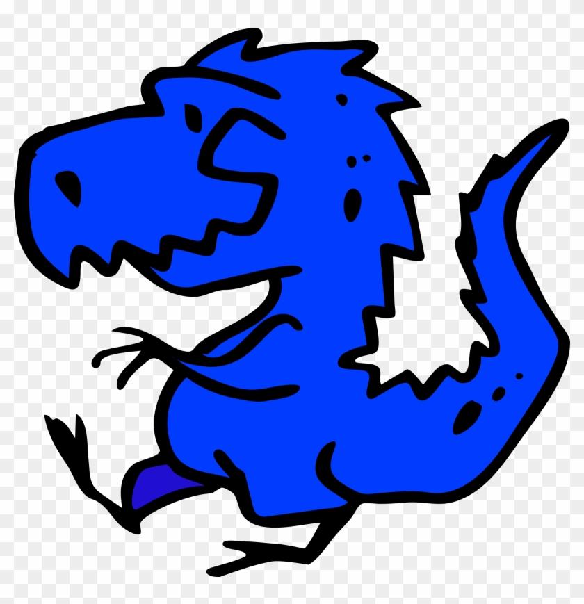 Big Image - Blue Dinosaur #6914