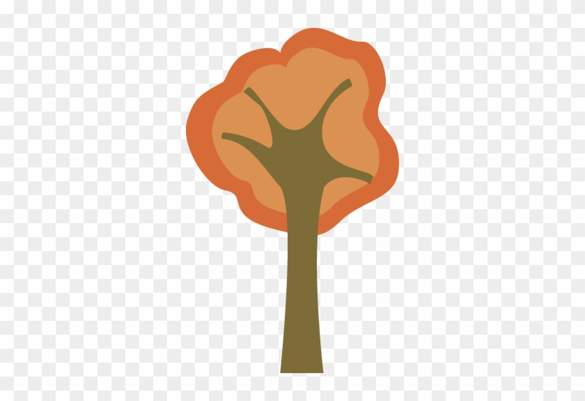 Modern Autumn Tree - Fall Tree Art Clipart #711
