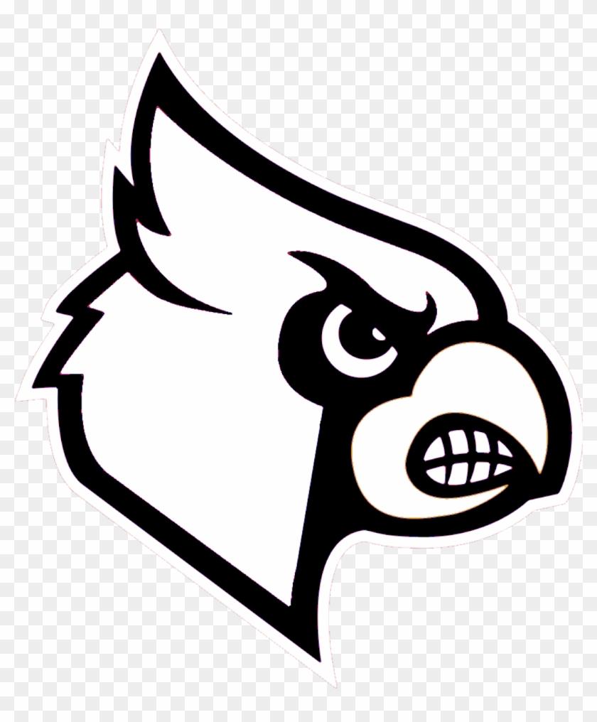 Cardinal Black And White Clipart Kid - Louisville Cardinals Logo #6937