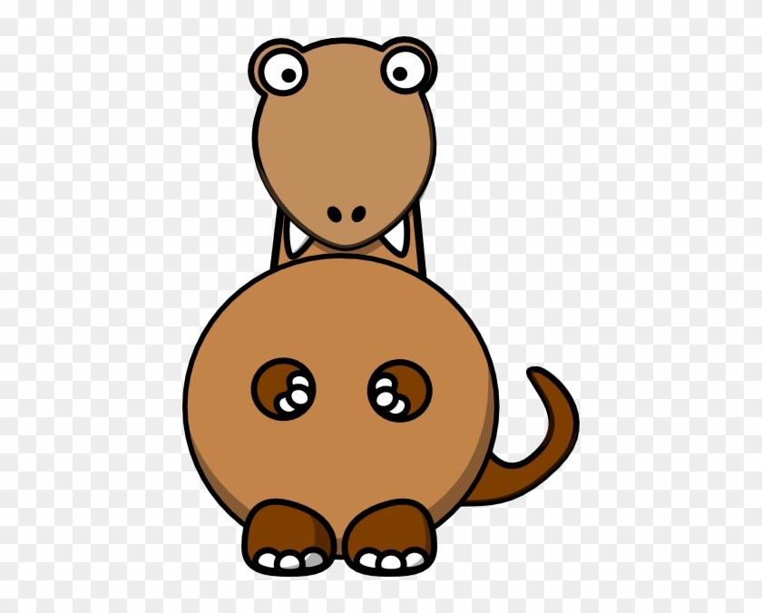 Brown Dinosaur Clip Art - Dinosaur Clipart #6945