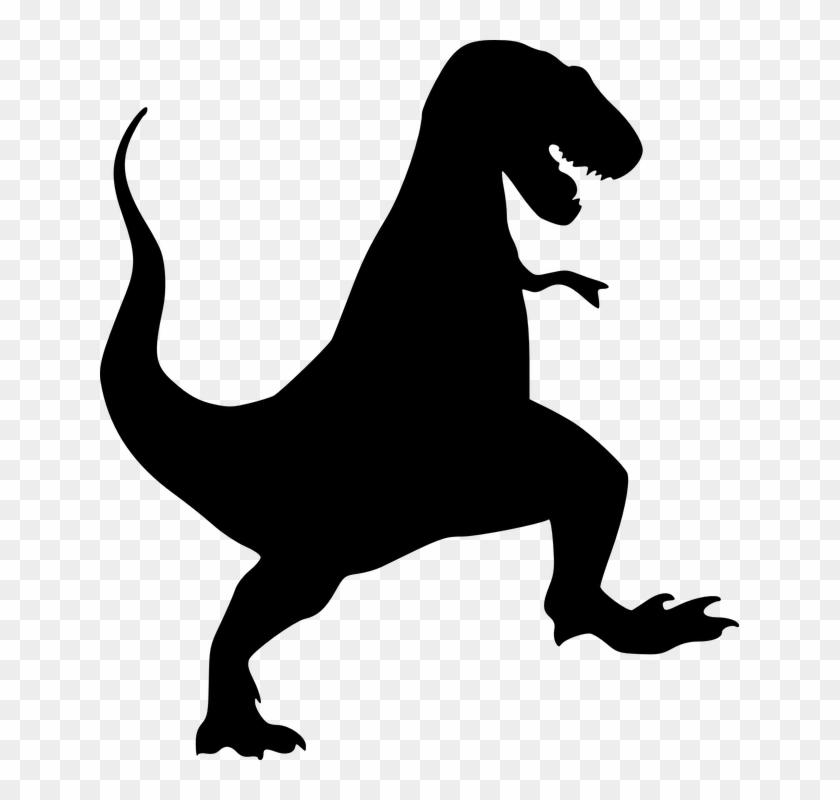 Dinosaur Tyrannosaurus Rex Black Silhouett - T Rex Silhouette #6947